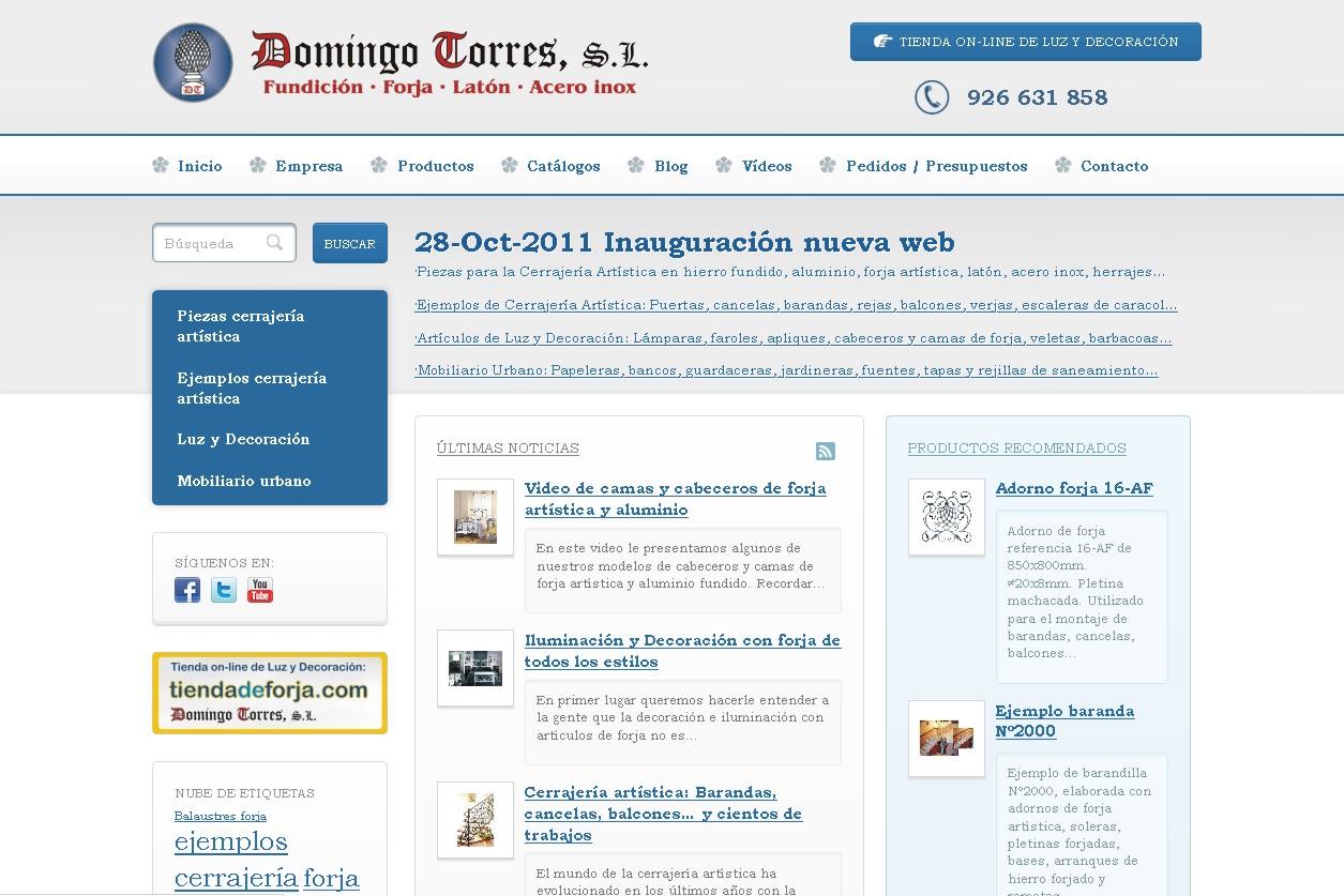 Presentaci n nueva p gina web de domingo torres s l - Domingo torres forja ...