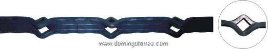 10-BP Barra perforada hierro forjado