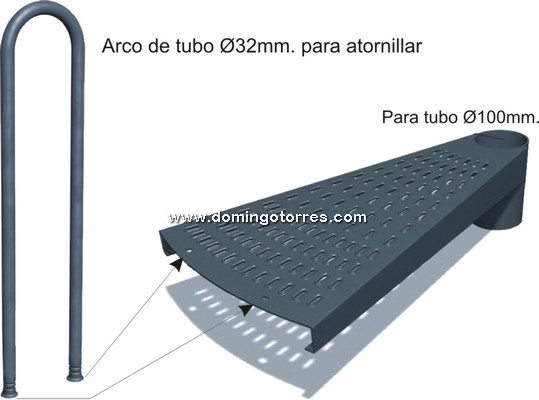 10-CHP Peldaño chapa y arco tubo