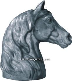 101-LA Cabeza caballo fundición