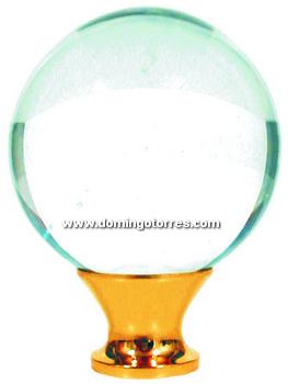 18-RL Remate latón con cristal