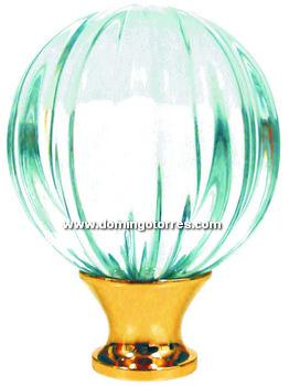 19-RL Remate latón con cristal