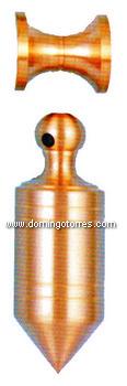 26-PVL Plomada latón bronce