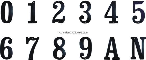 4-VF Número forja artística