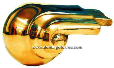 42-PVL Tapa pasamanos latón bronce