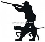 45-CHP Silueta chapa cazador