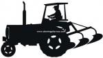 49-CHP Silueta chapa tractor