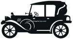 50-CHP Silueta chapa coche antiguo