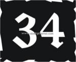 6-VF Placa pergamino forja artística