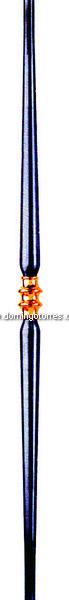 7-BL Balaustre tubo con latón