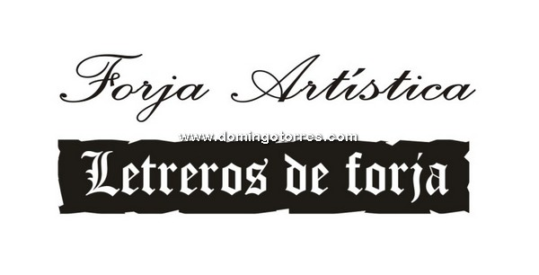 Letrero forja 7 vf forja domingo torres s l Letras de hierro