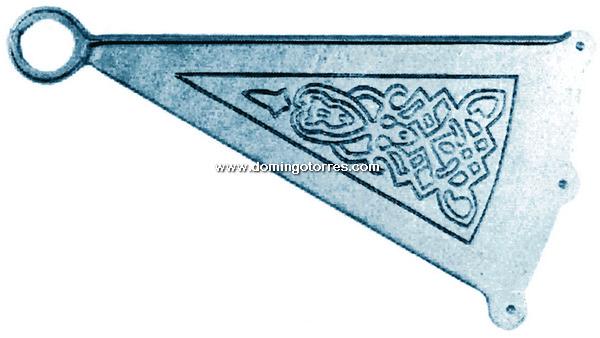 71-ES Peldaño escalera caracol hierro fundido