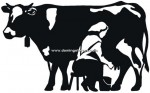 75-CHP Silueta chapa vaca lechera
