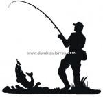 78-CHP Silueta chapa pescador