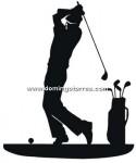 79-CHP Silueta chapa golfista