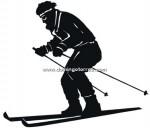 80-CHP Silueta chapa esquiador