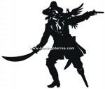 86-CHP Silueta chapa pirata