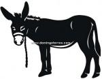 91-CHP Silueta chapa burro