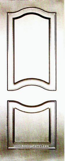 1-HP Hoja puerta doble cara