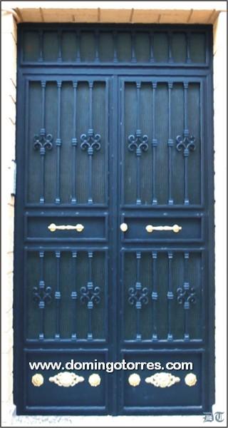 1006 Puerta forja latón hierro fundido