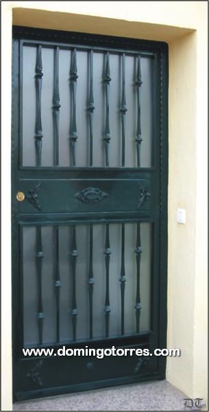 1008 Puerta forja y hierro fundido