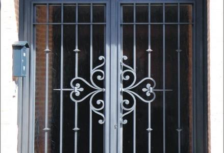 Ejemplos y fotos de puertas cancelas barandas rejas for Puertas de metal para exterior