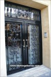 1019-Puerta forja latón hierro fundido