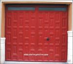 1059 Puerta forja y cuarterones chapa