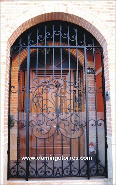 Cancela de forja art stica n 1581 modelo murcia forja domingo torres s l - Cancelas de hierro ...