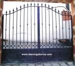 1615 Cancela forja y hierro fundido