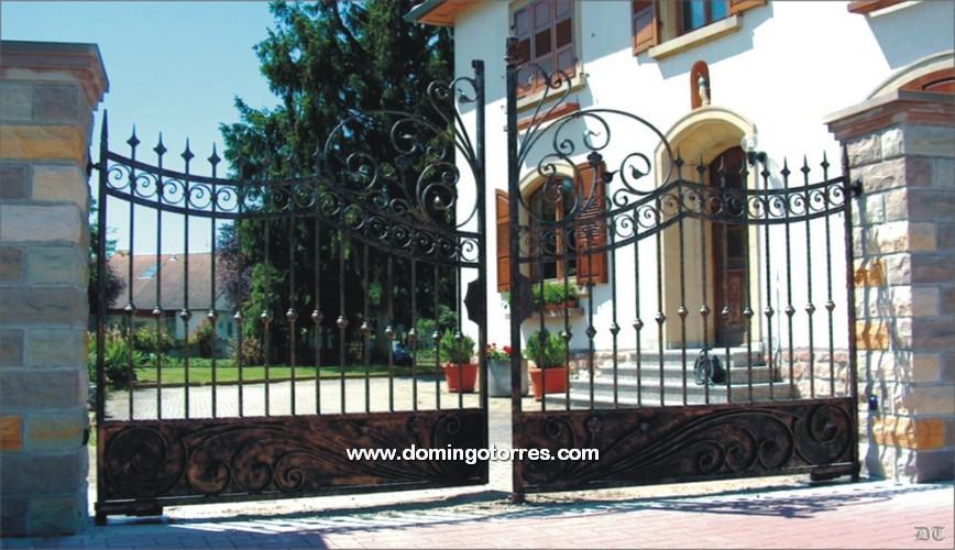 Foto de cancela de forja art stica para entrada a vivienda - Domingo torres forja ...
