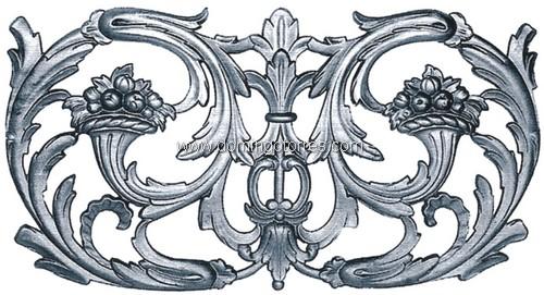 2-AC-B Adorno hierro fundido