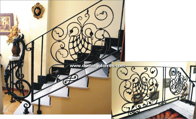 Baranda de forja ornamental n 2006 con adornos y arranque - Domingo torres forja ...