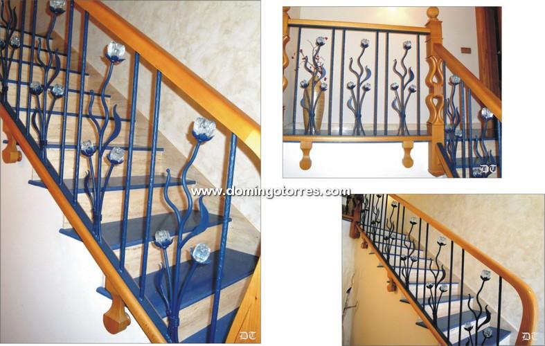 Barandillas de forja para escaleras de interior perfect for Escalera interior barata