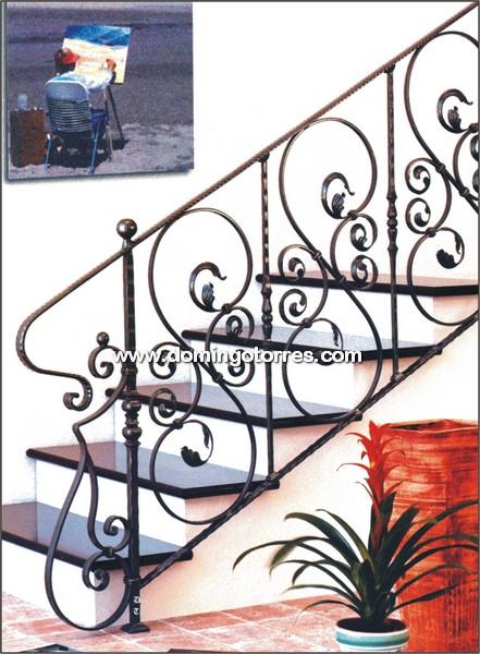 Barandilla de forja ornamental para escalera n 2015 for Escaleras de fierro para casa