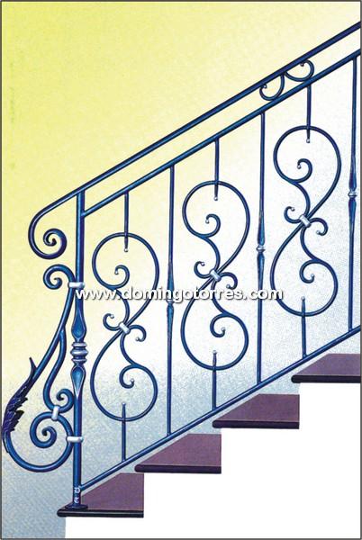 Baranda sencilla de hierro forjado para interior o - Barandas de forja para escaleras ...