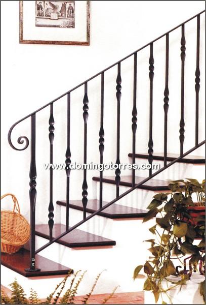 Barandilla barata de hierro forjado con barrotes lisos - Barandas para escaleras de hierro ...