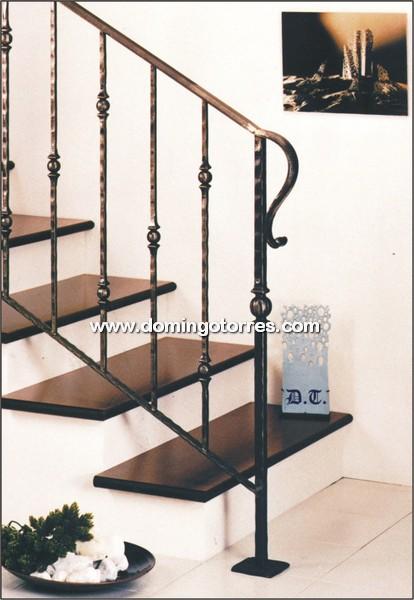 Barandilla cl sica de hierro forjado para escalera n 2026 - Escaleras de forja interiores ...