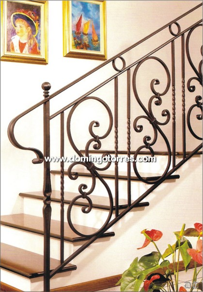 Barandilla sencilla de hierro forjado para escalera n 2035 - Barandas de forja para escaleras ...