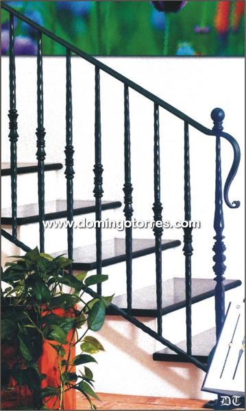 Ejemplo baranda n 2102 forja domingo torres s l - Baranda de escalera de hierro ...