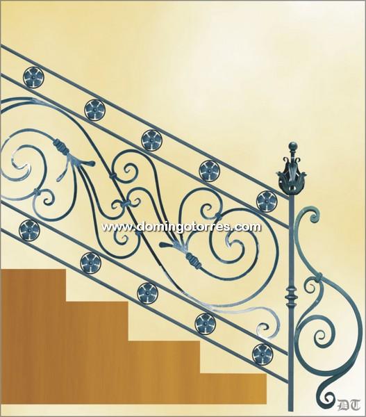 Barandas de hierro forjado para escaleras interiores y - Forja domingo torres ...