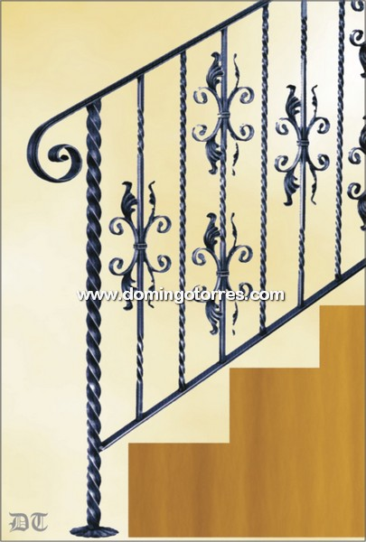 Ejemplo baranda n 2144 forja domingo torres s l - Barandas de forja para escaleras ...