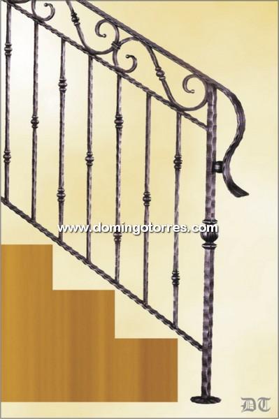 Ejemplo baranda n 2149 forja domingo torres s l - Barandas de forja para escaleras ...