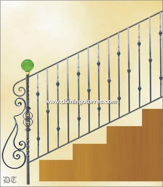 Ejemplo baranda n 2176 forja domingo torres s l - Barandas de forja para escaleras ...