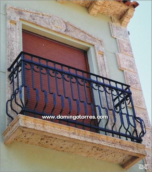 Balcones de forja art stica con barrotes especiales n 4014 - Forja domingo torres ...