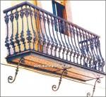 4113 Balcón hierro fundido y aluminio