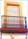 4114 Balcon hierro fundido y forja