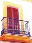 4115 Balcón hierro fundido y forja