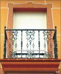 4117 Balcón hierro fundido y forja