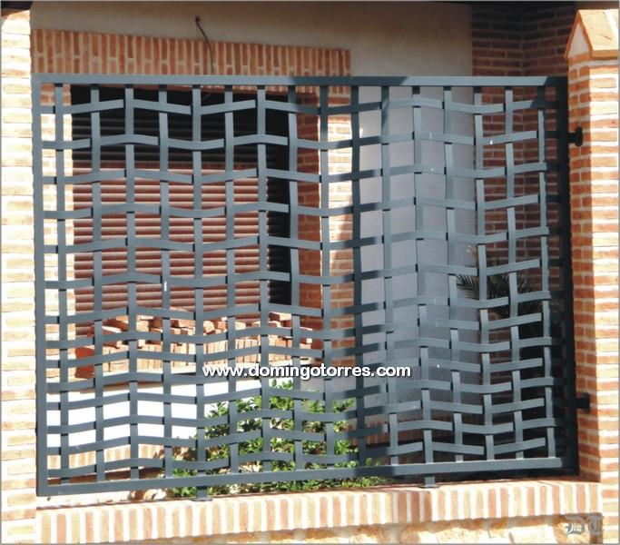 Foto y ejemplo de verja con pletinas entrelazadas n 5015 - Pletinas de hierro ...